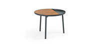 Chord Side Table - Black Texture, Walnut Insert
