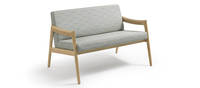 Prose Loveseat - Clear over Ash