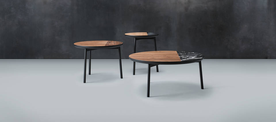 Chord Tables Collection - Walnut and Black Quartz Ensemble