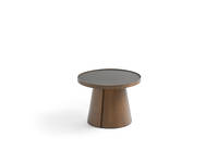 Penna Small Round Table - Walnut Over Ash