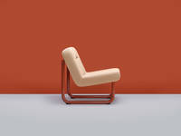 Chroma Armless Lounge - Copper Red Matte